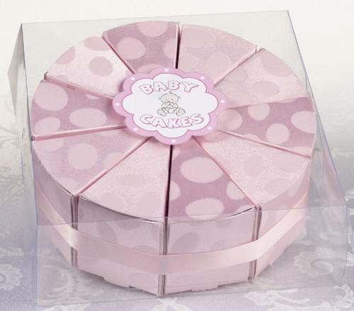 Set of 10 Pink Baby Cake Box Favors - Lillian Rose