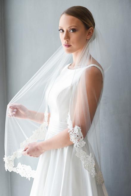 Erica Koesler Wedding Veil 866-42- Venise Lace Edge