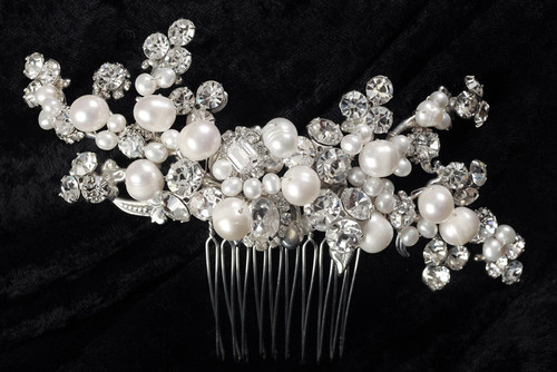 Erica Koesler Comb A-5468 - Freshwater Pearl Comb