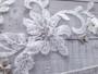 Bel Aire Bridal Veils V7365 -1-tier waltz length veil with Schiffli lace appliqués