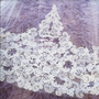 Elena Designs Wedding Veil Style E1196L - Cathedral Beaded Lace  edge veil - 120x108