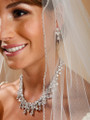 Spectacular Hollywood CZ Pears Bridal Necklace Set