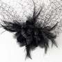 Black Birdcage Veil 7795