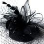 Black Veil Headpiece with Clip 8366