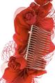 Ruby Red Flower Hair Clip