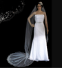 Noelle & Ava Collection - 120 Inches - Scallop Cathedral Veil with Beads, Bugles and Sequins