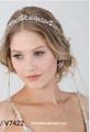Bel Aire Bridal 6852 - Bridal tiara with rhinestone and beaded edge