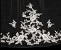 "Bella Mera Studio - 3D Flower Lace Cathedral Veil - 108"" Long"