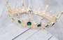Bella Mera Studio - Gold & Emerald Green Circle Crown
