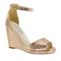 Touch Holly Rose Gold Wedge Shoes with Strap - 4342