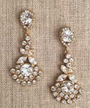 Bel Aire Bridal Earrings EA268 - Rhinestone drop earrings
