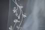 """Erica Koesler Wedding Veil 937-100 - (100"""" inches long) - Pearls & beads accented, lochrosen stones on a silver comb"""