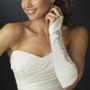 Designer Fingerless Bridal Glove GL-9130-12A