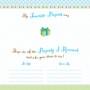 First Birthday Blue Keepsake Board Book- Lillian Rose