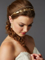 Hand-Made Garland of Leaves Split Bridal Headband Crown 4444HB-I-G