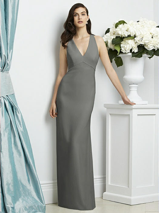 1bb3eed795 Dessy Collection Style 2938 - Charcoal Gray - Crepe - In Stock Dress