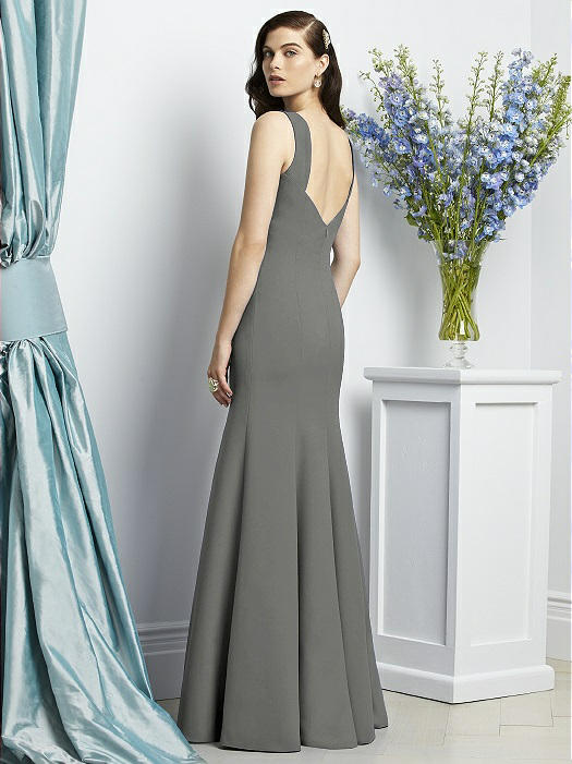 ad9c8fa280 Dessy Collection Style 2936 - Charcoal Gray Color - Crepe - In Stock Dress