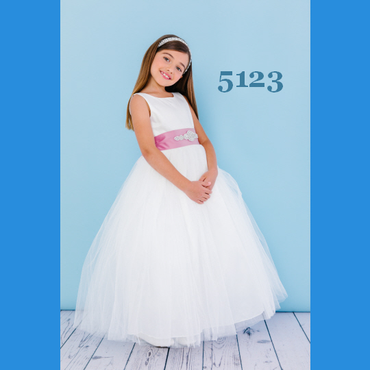 01fb55e69 Rosebud Fashions Flower Girl Dresses - Style 5123 - Tulle & Satin. Tap to  expand