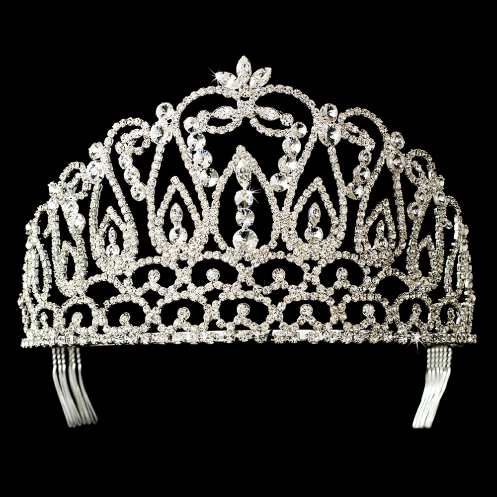 Crystal Rhinestone Pageant Crowns Tiaras Hp 208