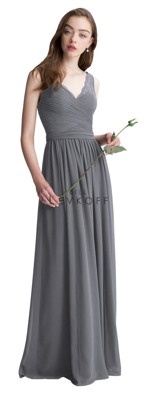 8b62927207 Designer Bill Levkoff Bridesmaid Dress Style 1410 - Corded Lace   Chiffon  Dress