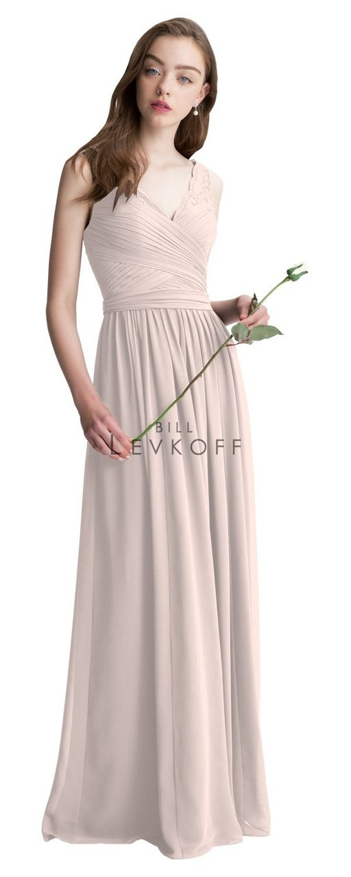 64a4cdfbd4 Designer Bill Levkoff Bridesmaid Dress Style 1410 - Corded Lace ...