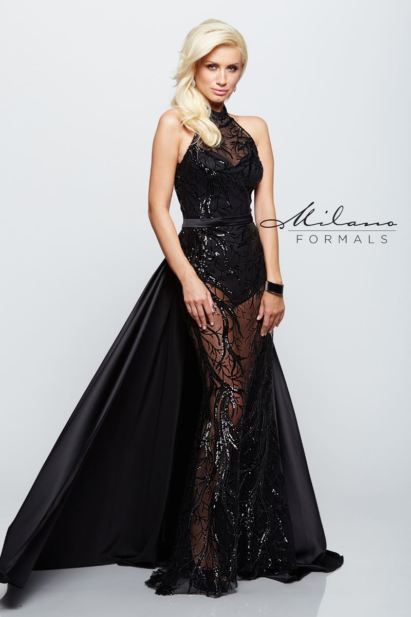 b55f525585f93 Milano Formals E2134 - Formal Wear Dresses | Prom & Homecoming Dresses