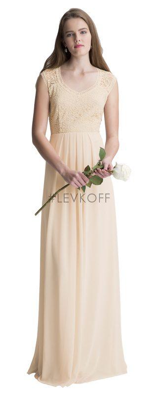 7e9a2b66c03b #LEVKOFF - Bill Levkoff Bridesmaid Dress Style 7011 - Chiffon/Lace