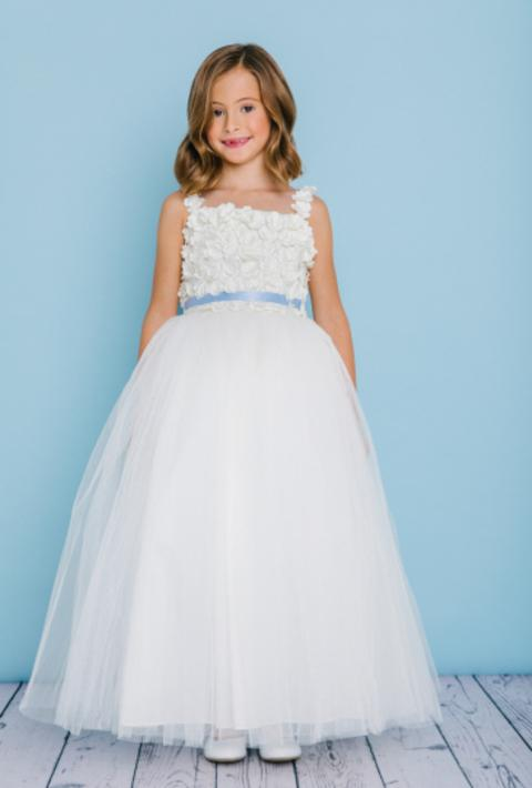 2d409cab Rosebud Fashions Flower Girl Dresses - Style 5131 - Satin, Lace, and Tulle