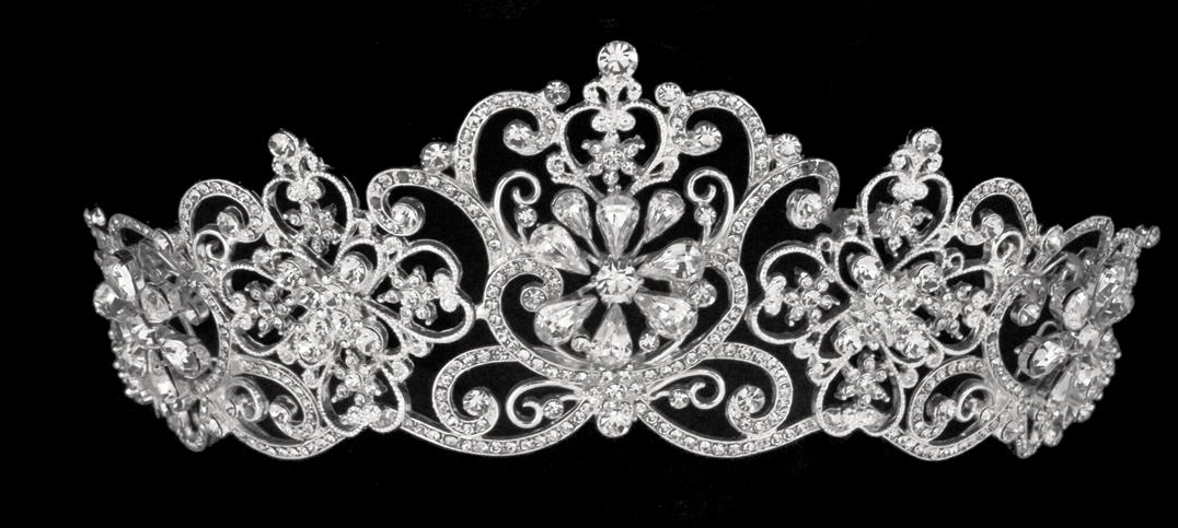 Noelle   Ava - Royal Rhinestone Tiara Crown with Pear Shaped Stones    Crystals - Gold. ‹ › a902cf5193f7