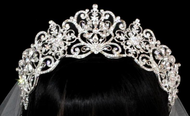 Noelle   Ava - Royal Rhinestone Tiara Crown with Pear Shaped Stones    Crystals 03121ed2ea91