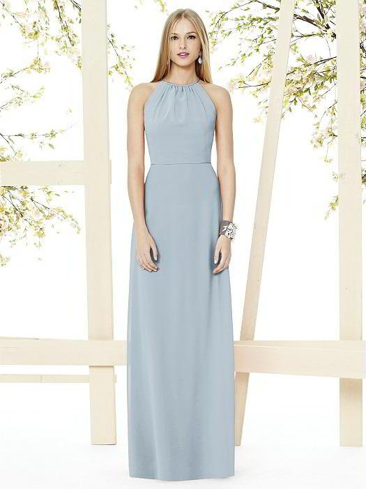532dc2bb0fef Social Bridesmaids Dress Style 8151 - Matte Chiffon - Mist - In Stock Dress