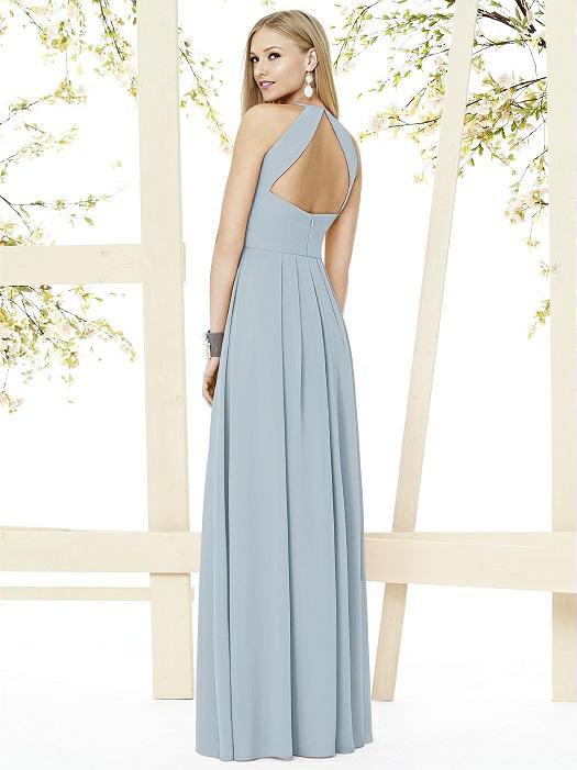 3b9986e94760 Social Bridesmaids Dress Style 8151 - Matte Chiffon - Mist - In Stock Dress