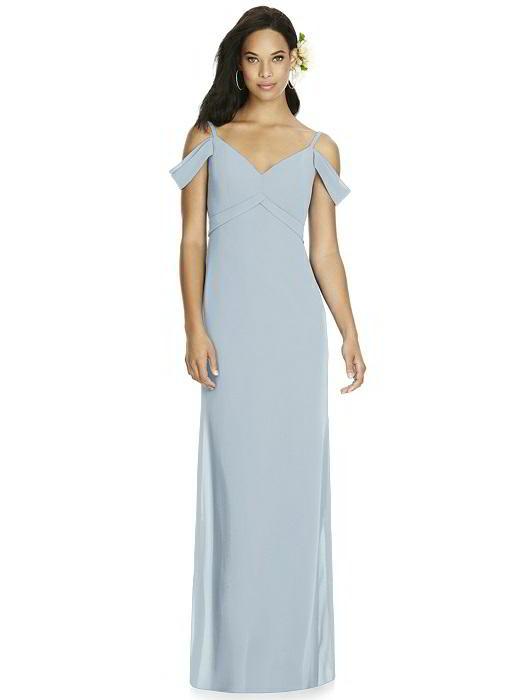 ebc8df286f09 Social Bridesmaids Dress Style 8183 - Matte Chiffon - Mist - In Stock Dress