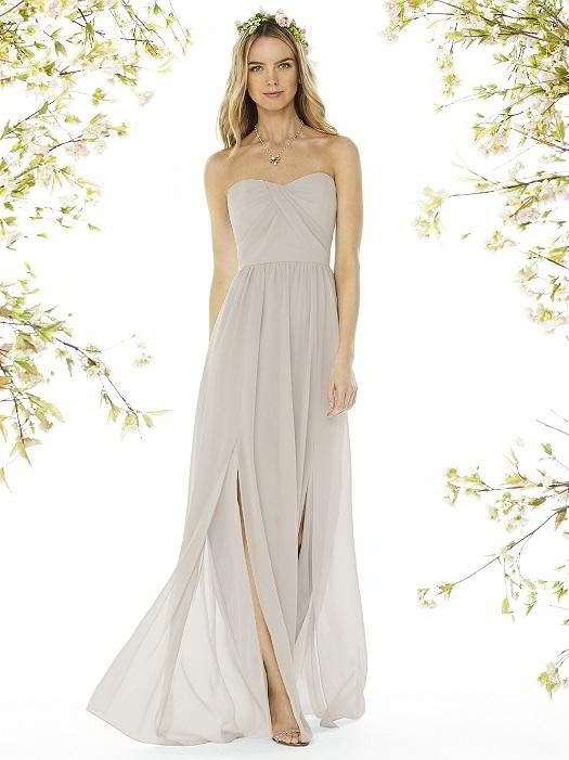 289aaf58aae Social Bridesmaids Dress Style 8159 - Matte Chiffon - Oyster- In Stock Dress