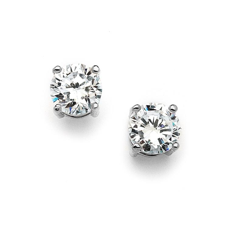 5b186f449f2b9 Mariell 10mm Round Cubic Zirconia Stud Earrings 4370E-S
