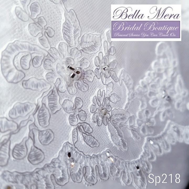 e050797d03 Giselle Bridal Veil Style SP218 - Fingertip Length