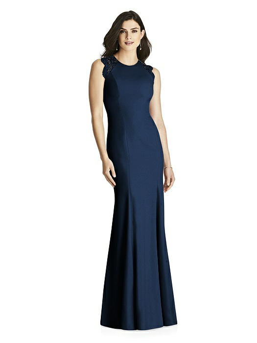 0b714570b8 Dessy Bridesmaids Dress Style 3015 - Midnight - Crepe - In Stock Dress. Tap  to expand