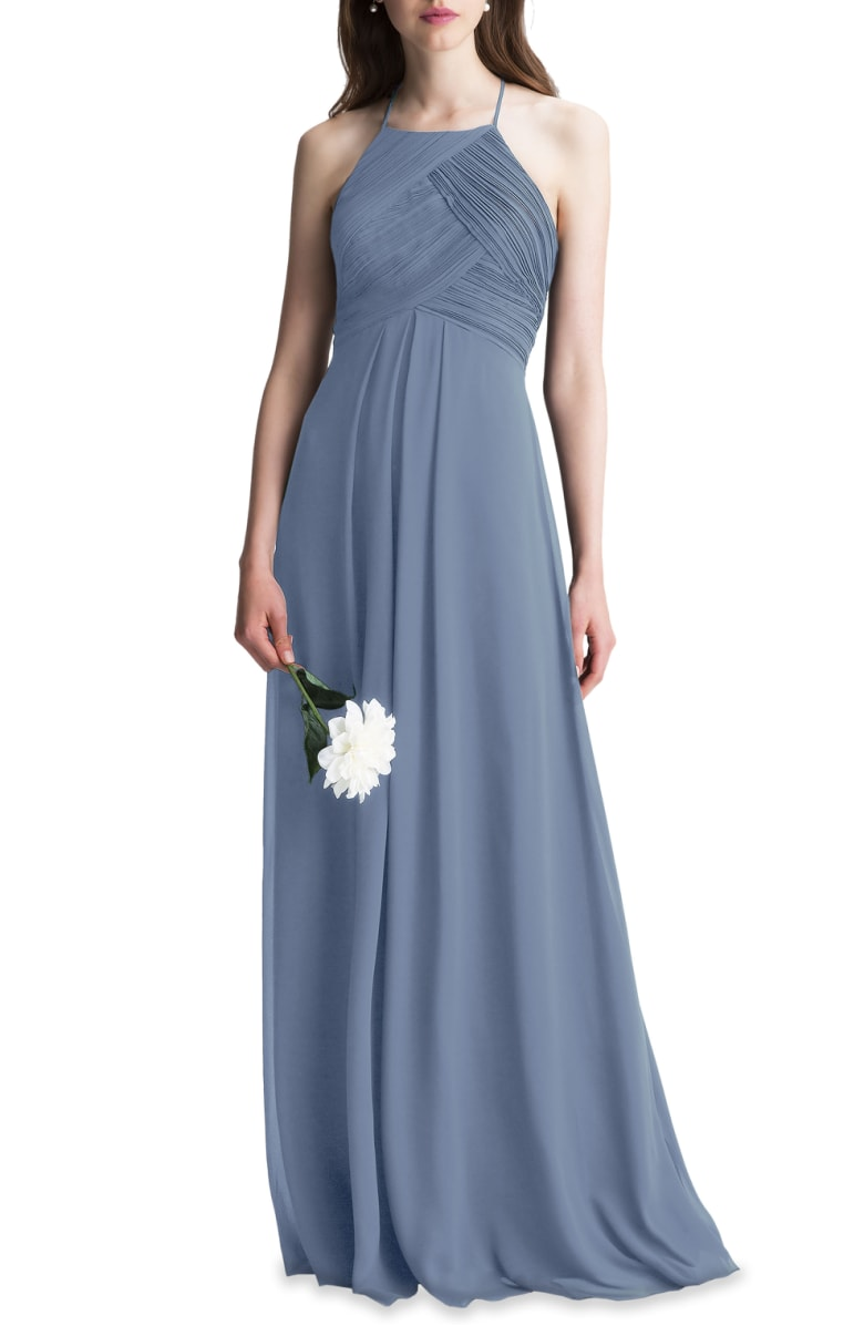 21bf2a6ade2f LEVKOFF Bridesmaid Dress Style 7001 - Slate - Chiffon - In Stock Dress