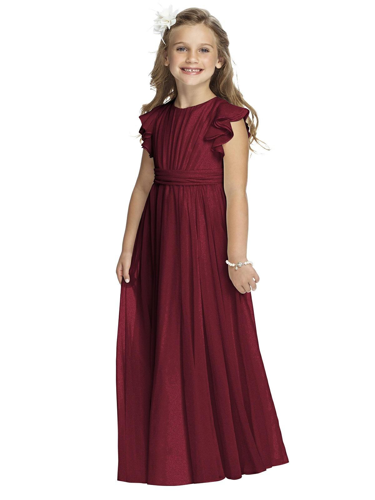 55d6989dcb88 Dessy Flower Girl Shimmer Dress FL4038LS - Lux Shimmer