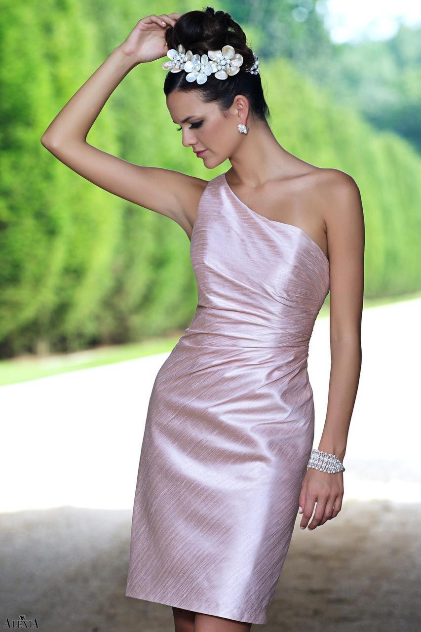 678c88c27223 Alexia Designs Bridesmaids 4124 - Poly Shantung cocktail dress