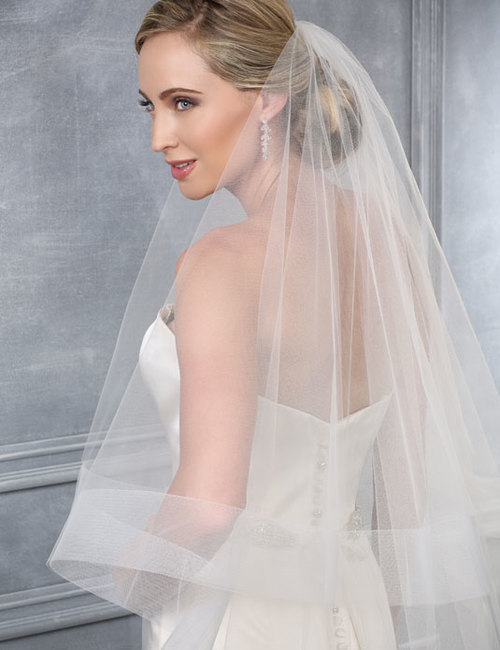 Enchanting Bel Aire Bridal Veils V7220c Two Tier Cathedral W