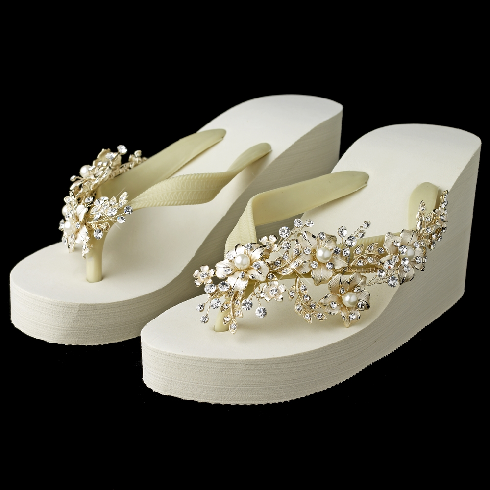 a33d100374d0e7 floral light gold vine high wedge flip flops with rhinestone pearl accents 5  83946.1431551525.jpg c 2