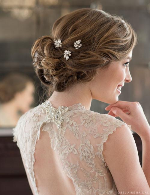Bel Aire Bridal Hair Pins 1722 Rhinestone And Pearl Hairpins