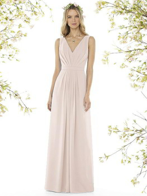 d842e39df3a Social Bridesmaids Dress Style 8157 - Matte Chiffon - Blush - In Stock Dress
