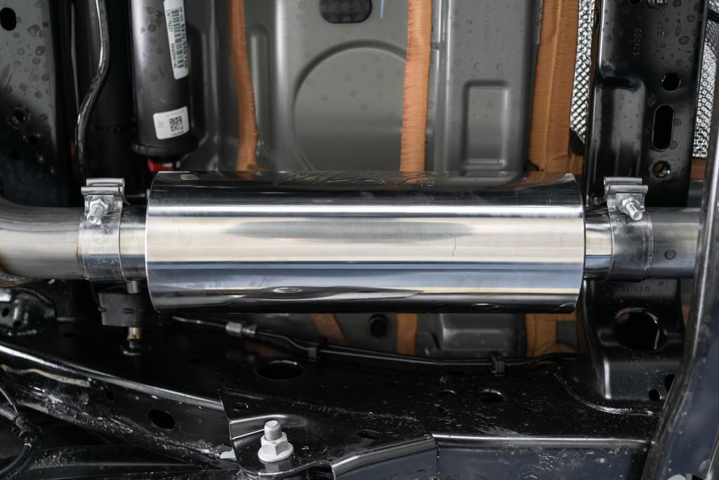 "2.5"" Cat Back, Single Rear Exit, T304 Jeep Wrangler (JL) 2-DR/4-DR 2.0L, 3.6L 2018-2020"
