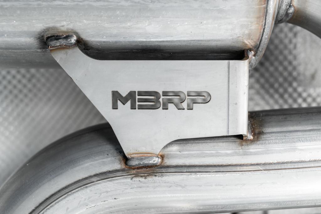 "3"" Cat Back 2015-2017 VW Golf GTI MK7 Dual Exhaust System PRO Series  Carbon Fiber Tips"