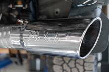 """4"""" Filter Back Single Side Exit,20202500/3500 6.6L Duramax GMC/Chevy, Aluminized Steel"""