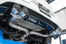 """3"""" Cat Back, 2015-2019 VW Golf R MK7/MK7.5, Quad Split Rear, T304 Stainless Steel"""