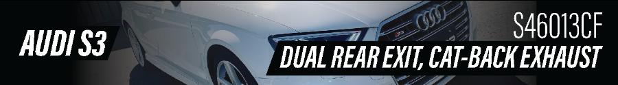 2020 Audi S3 Dual Exhaust