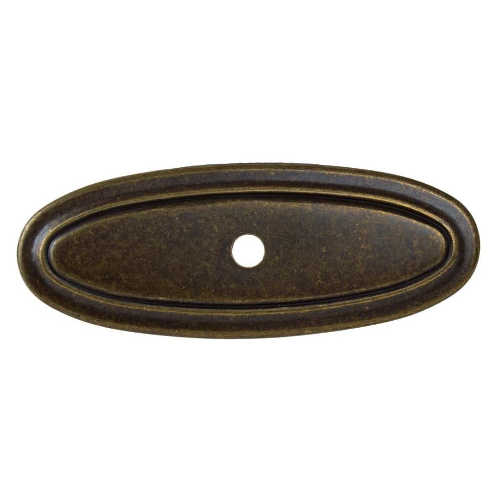 3 Inch Classic Thin Oblong Cabinet Backplate - 1034